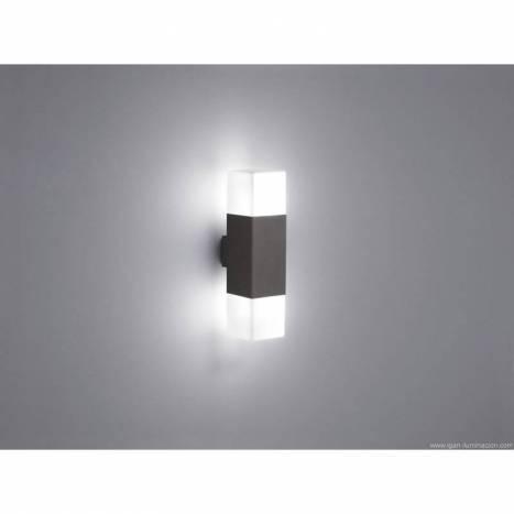 Aplique de pared Hudson 2 luces LED gris pizarra - Trio