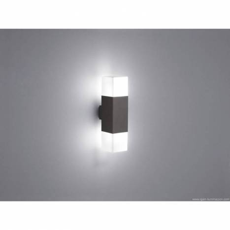 Aplique de pared Hudson 2 luces LED gris pizarra - Trio