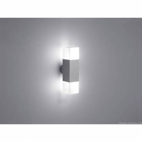 Aplique de pared Hudson 2 luces LED aluminio gris de Trio
