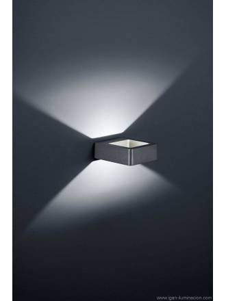 Aplique de pared Reno 5w LED color gris pizarra de Trio
