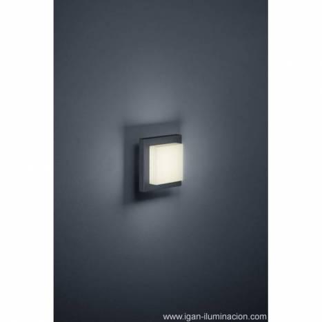 Aplique de pared Hondo 4w LED aluminio gris pizarra de Trio
