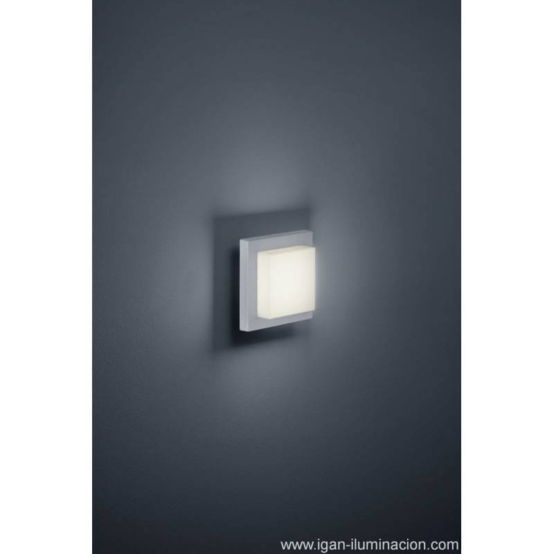 Aplique de pared Hondo 4w LED gris - Trio