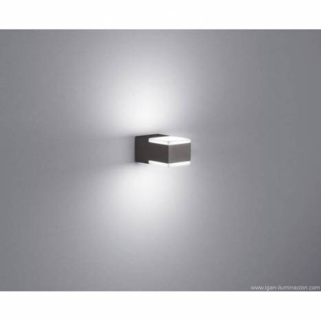 Aplique de pared Don 2x3w LED gris pizarra - Trio