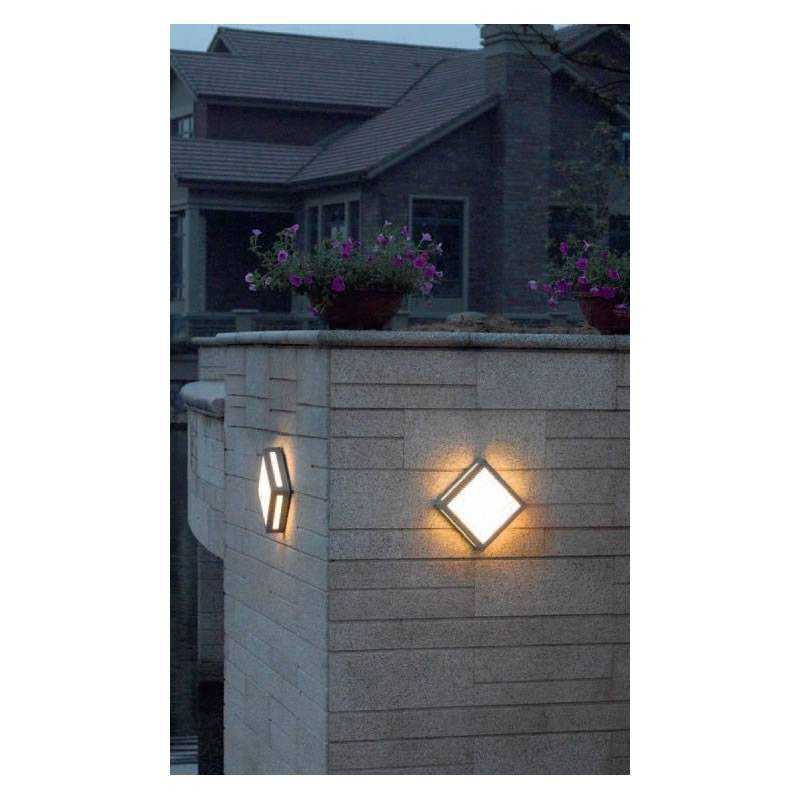 Trio newa outdoor ceiling lamp led 13w grey aloadofball Image collections