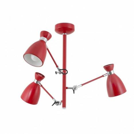 FARO Retro ceiling lamp 3L red