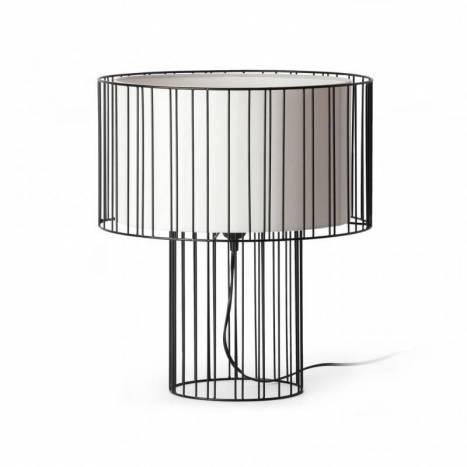 FARO Linda table lamp 1L fabric shade