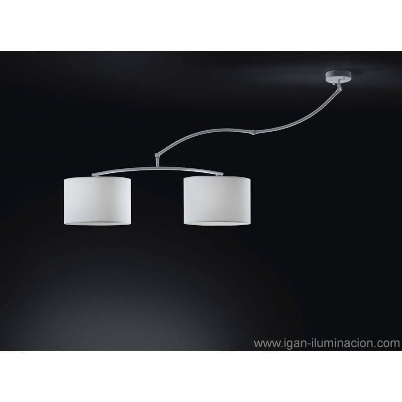 Lámpara colgante Cisne 2L blanco - Brilliance