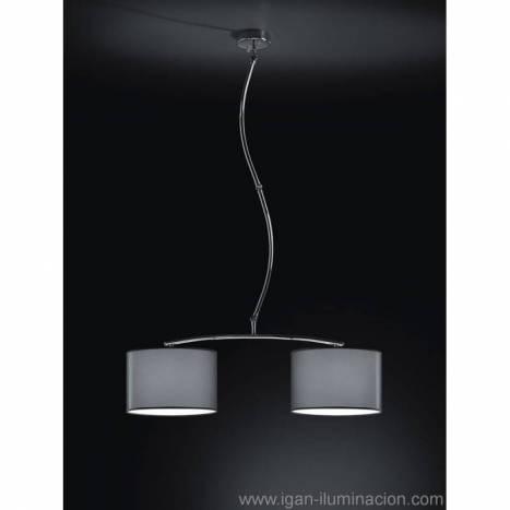 Lámpara colgante Cisne 2L cromo - Brilliance