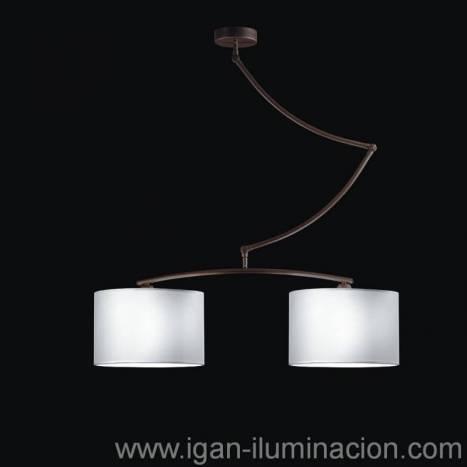 Lámpara colgante Cisne 2L oxido - Brilliance