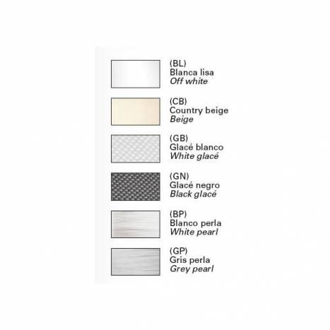 BRILLIANCE Cisne white metal fabric colors