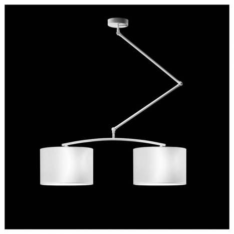 Lámpara colgante Flamingo 2L blanco - Brilliance