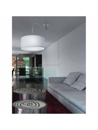 Lámpara colgante Cane 3L desplazable blanco - Brilliance