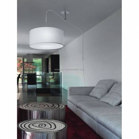 BRILLIANCE Cane ceiling lamp scroll white metal