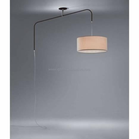 Lámpara colgante Cane 3L desplazable oxido - Brilliance