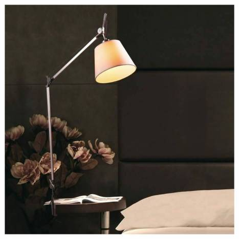 Terra clamp lamp chrome and fabric