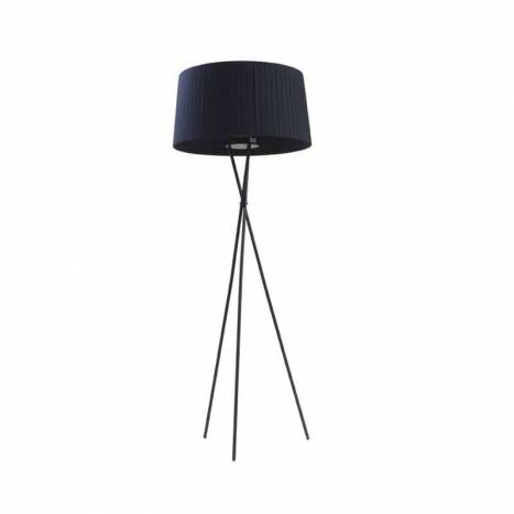 Tripode floor lamp black fabric