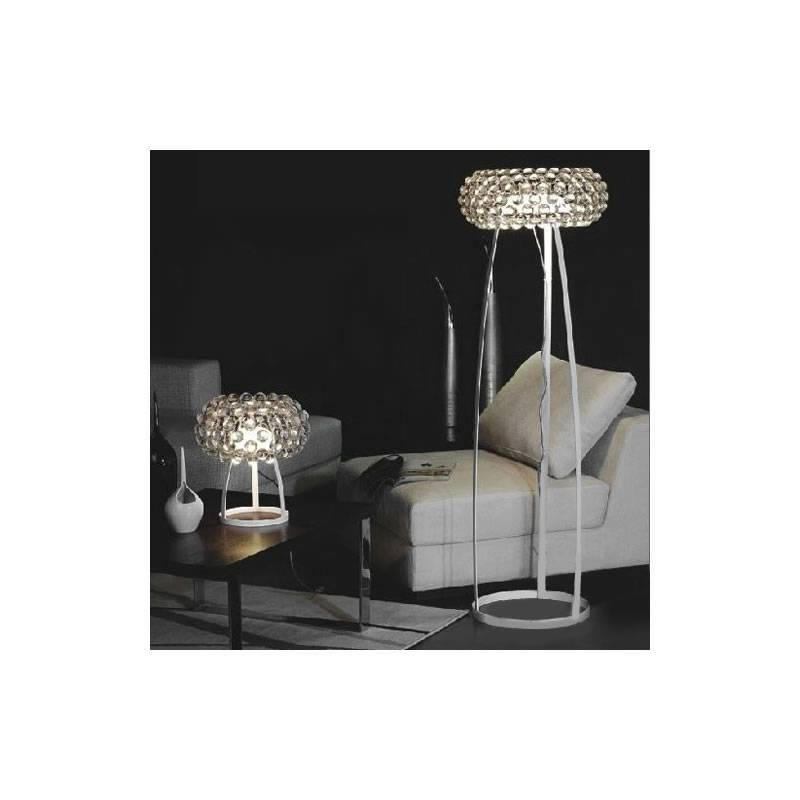 Balls floor lamp white metal and glass for Floor lamp with metal balls