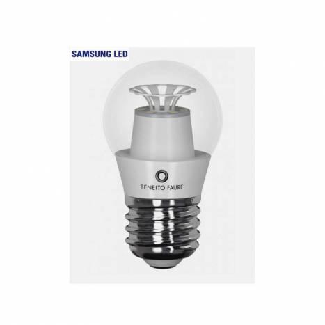 Bombilla LED 5w E27 Esférica Transparent - Beneito Faure