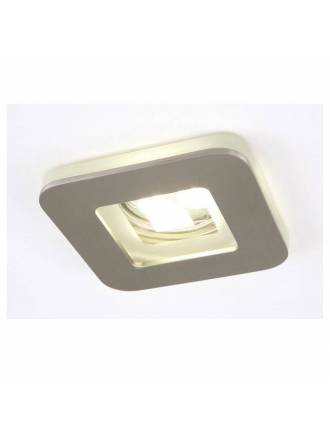 OLE by FM Artic recessed light nickel and glass