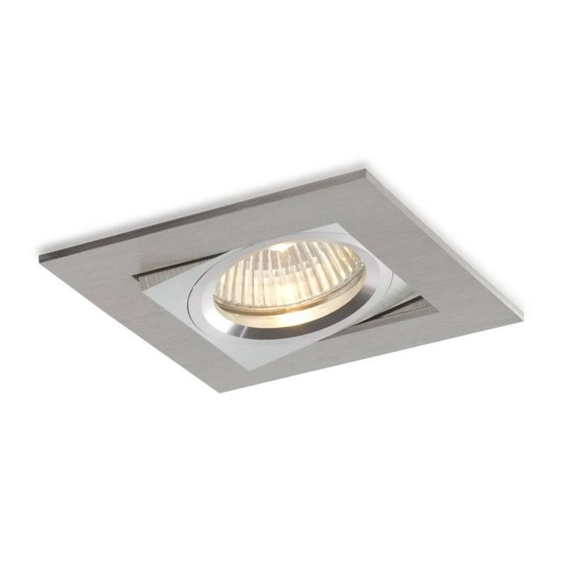 Foco empotrable Care cuadrado aluminio - Bpm