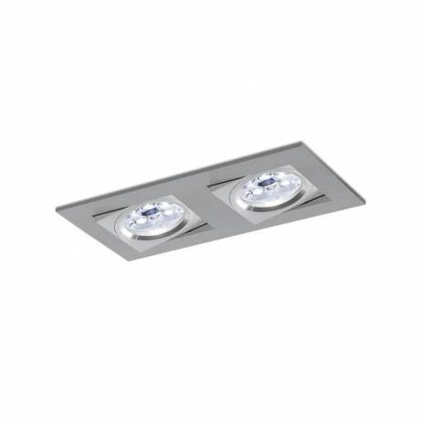 BPM Care recessed 2 light aluminium