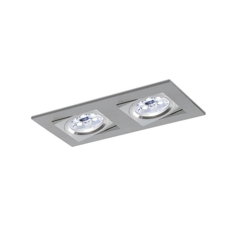 BPM Care recessed 2 light aluminium