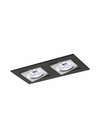 Foco empotrable Care 2 luces negro - Bpm