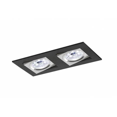 Foco empotrable Care 2 luces negro - Bpm