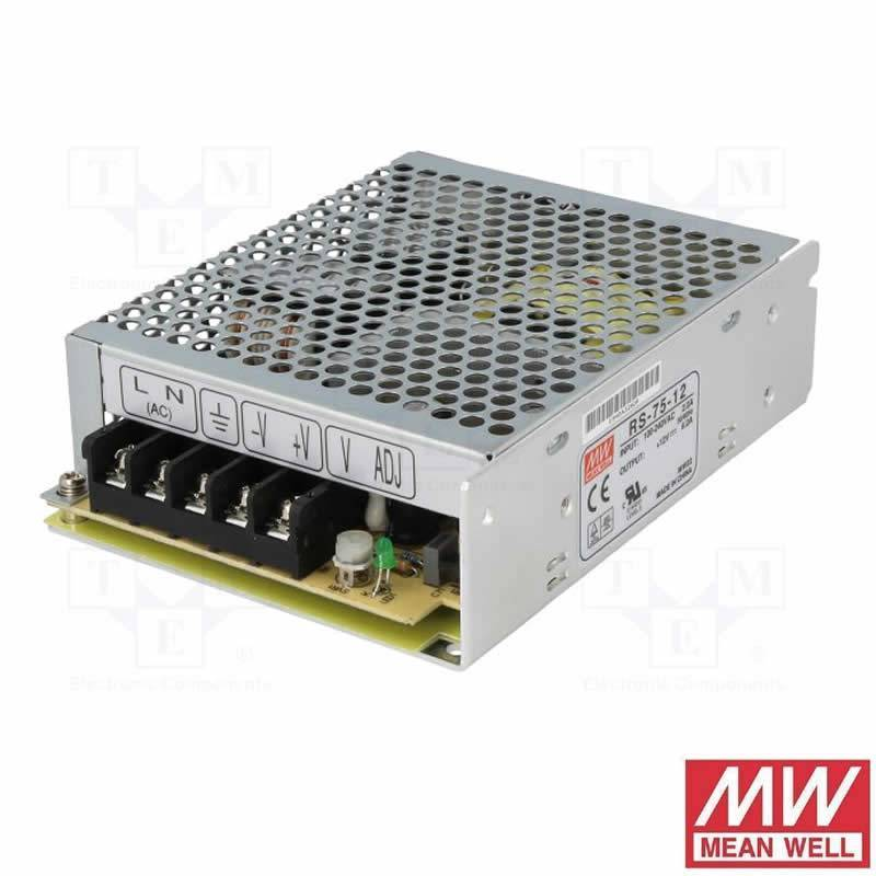 Fuente alimentación Mean Well 75w 12v