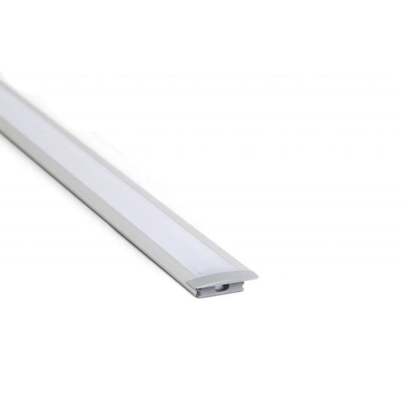 Perfil aluminio 2mts 8mm empotrable - Maslighting