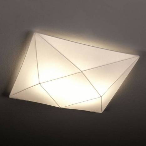OLE by FM Polaris ceiling lamp 58cm white fabric