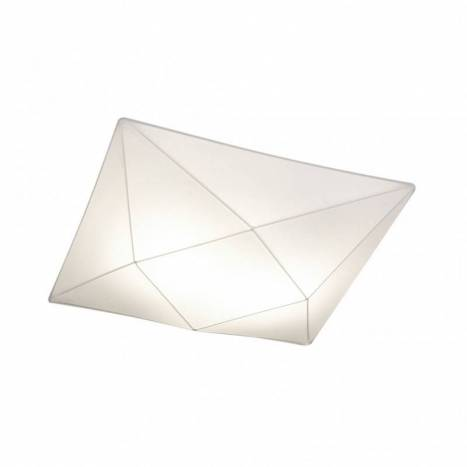 OLE by FM Polaris ceiling lamp 58cm white fabric
