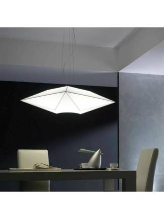 OLE by FM Polaris pendant lamp 80cm white fabric