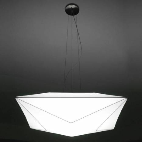 OLE by FM Polaris pendant lamp 80cm white fabric