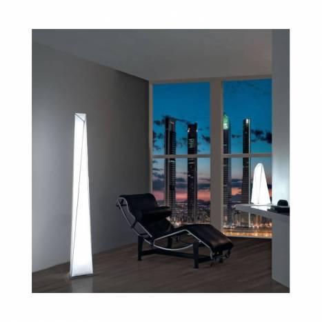 OLE by FM Polaris floor lamp T5 35w white fabric