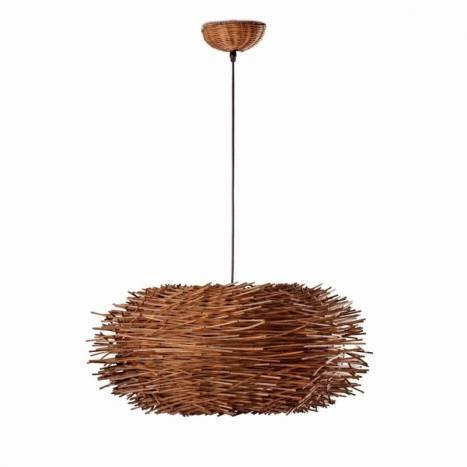 Lámpara colgante Nido 1 luz marrón - Faro