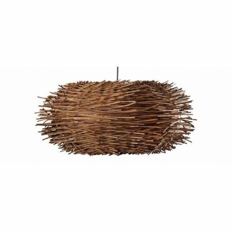 FARO Nido pendant lamp 1L brown