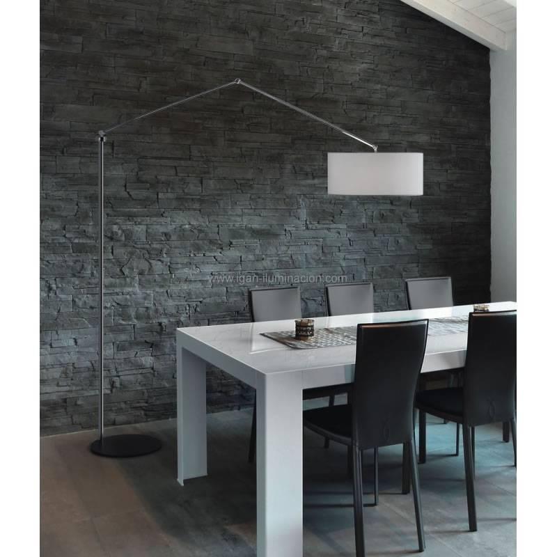 BRILLIANCE Flamingo floor lamp chrome metal fabric colors