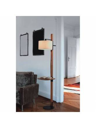 BRILLIANCE Tray floor lamp pine wood
