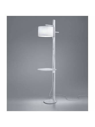 BRILLIANCE Tray floor lamp white wood