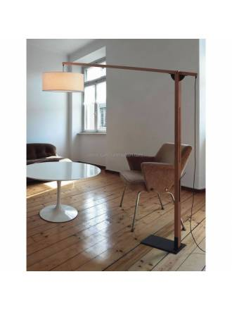 BRILLIANCE Mastil floor lamp pine wood