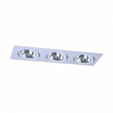 Foco empotrable 256 cardan 3 luces blanco