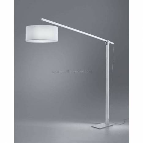 BRILLIANCE Mastil floor lamp white wood