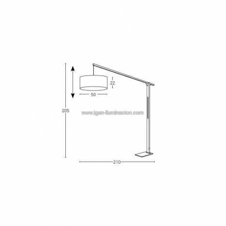 Lámpara de pie Mastil madera blanco - Brilliance