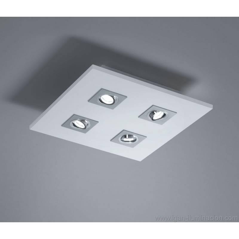 BRILLIANCE Solar ceiling lamp 45x45 4L LED 6w wood colors