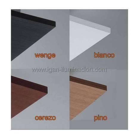 BRILLIANCE Solar ceiling lamp 3L LED GU10 wood colors