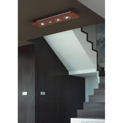 BRILLIANCE Solar ceiling lamp 4L LED GU10 6w wood colors