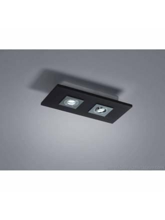 Plafón de techo Solar 2 luces LED GU10 6w madera - Brilliance