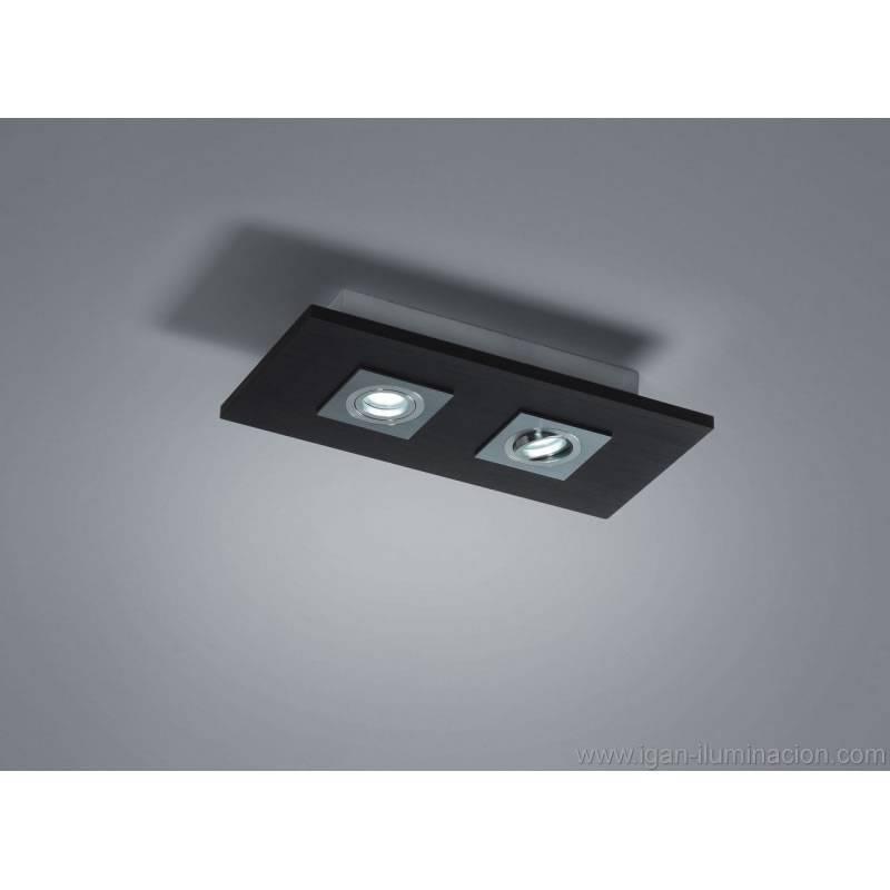 BRILLIANCE Solar ceiling lamp 2L LED GU10 6w wood colors