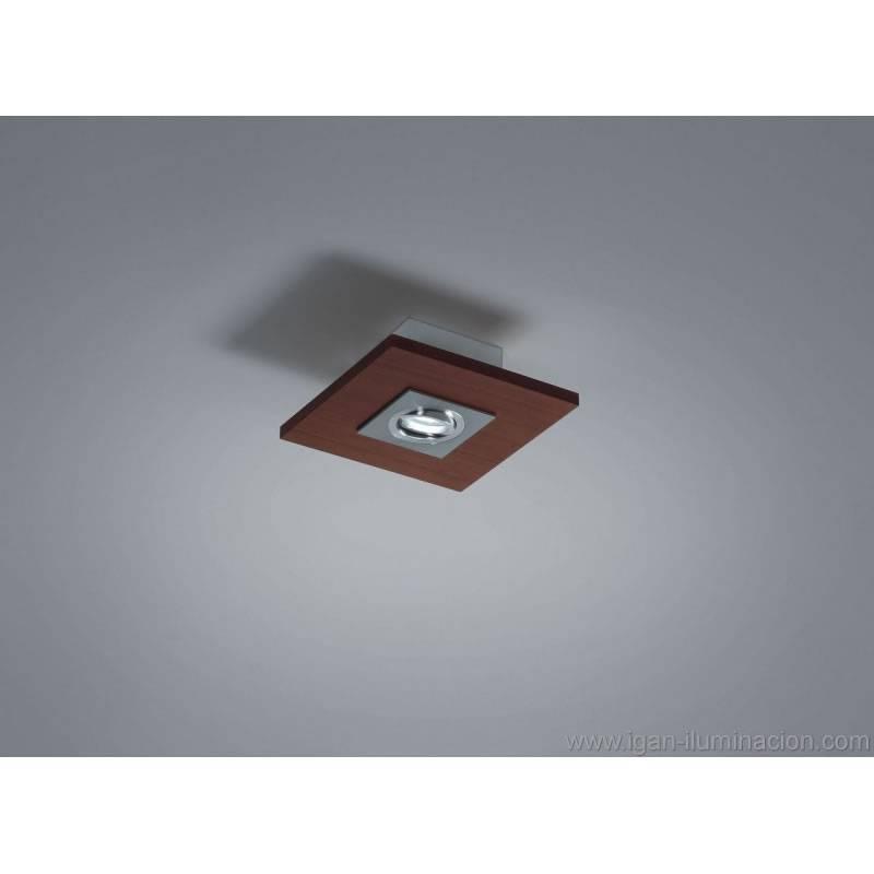 BRILLIANCE Solar ceiling lamp 1L LED GU10 6w wood colors